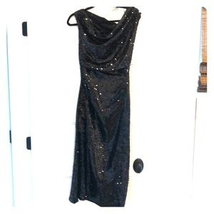 Zara sequin asymmetrical dress small